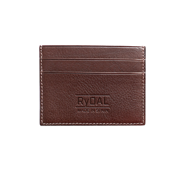 Maiano Mens Leather Card Holder in 'Dark Brown'. Italian Leather. RFID protection.