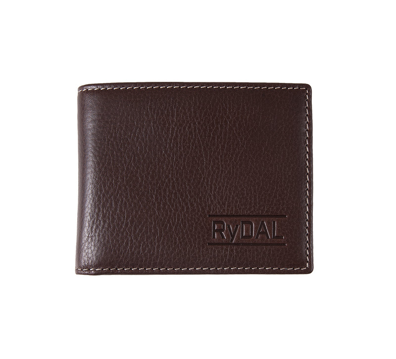 Solaia Mens Leather Wallet from Rydal in 'Dark Brown'.