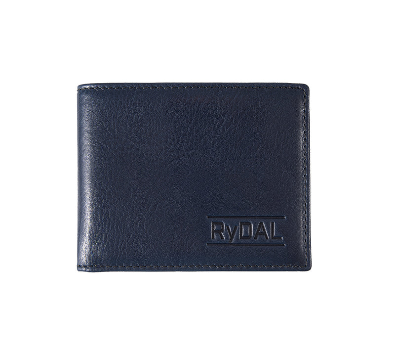 Solaia Mens Leather Wallet from Rydal in 'Royal Blue/Black'.