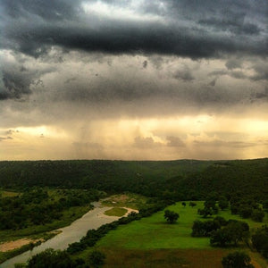 """Rain on the Brazos"" (FRAMED in Silver Floater frame)"