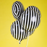5pcs 18inch Fashion Black White stripe Foil Balloon Helium Air Ball Wedding Party Birthday Party  Baby Shower Decoration Globos - Magic Balloons