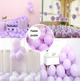 METABLE 100 Pcs blloon 10INCH Macaron pastel purple blue Candy Colored Latex Balloons for Birthday Wedding Party Decorations - Magic Balloons