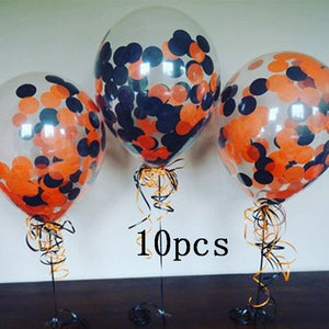 36inch pumpkin Halloween latex balloon 10 inch grimace Halloween balloon orange confetti balloon Halloween party decoration prop - Magic Balloons