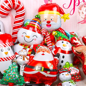 1pcs Merry Christmas Balloons Santa Clause Snowman Tree New Year Christmas Balloons Party Decoration Home Xmas Party Decor 2020 - Magic Balloons