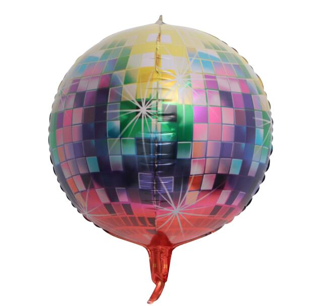 20PCS New Gradient Color 4D Disco Helium Balloon Birthday Wedding Party Decorations Balloons 22inch Photo Props Toys Baby Shower - Magic Balloons