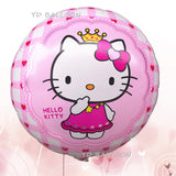 Lucky 10pcs/lot 18 inch Cartoon Cat KT Balloon Hello Kitty Foil Helium Balloons For Birthday Wedding Party Decoration Globos - Magic Balloons