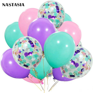 Teal Pink Purple Confietie Bouqet Balloons - Magic Balloons