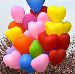 Heart &  Regular Shaped Latex Balloons - Magic Balloons