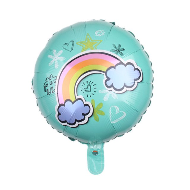 Rainbow Pink & Blue Foil Balloons - Magic Balloons