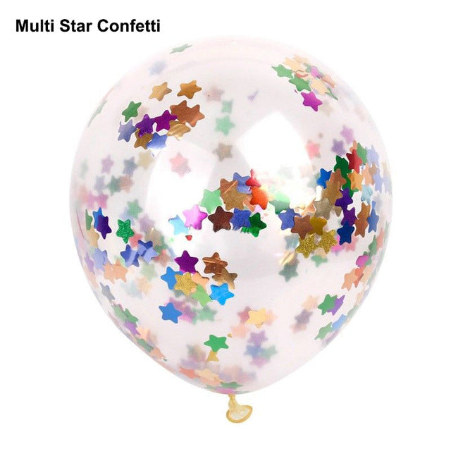 Confetti Transparent Balloons - Magic Balloons