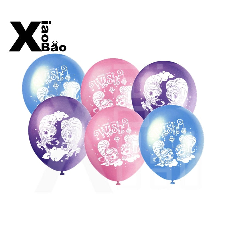 Shimmer and Shine Latex Balloons - Magic Balloons
