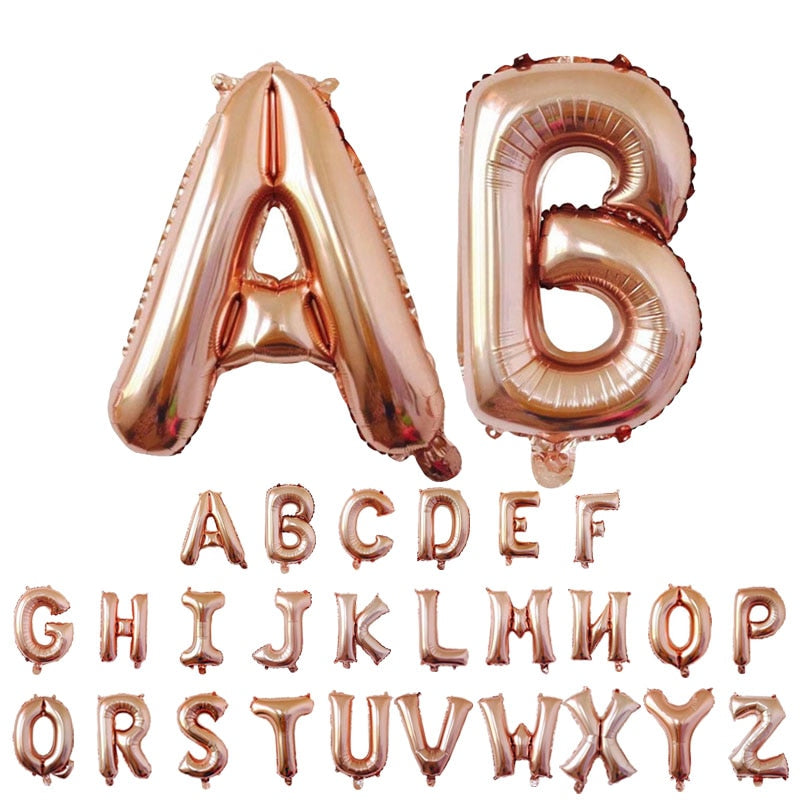 Chrome Letter Balloons (16Inch / 32Inch ) - Magic Balloons