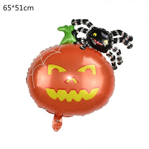 Halloween Pumpkin Ghost Balloons Halloween Decorations Spider Foil Balloons Inflatable Toys Bat Globos Halloween Party Supplies - Magic Balloons