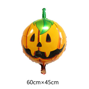 5pcs happy Halloween ballons 18inch round foil balloons halloween globos helium balloons inflatable toys balls party supplies - Magic Balloons