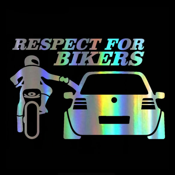 "Sticker 3D ""RESPECT FOR BIKERS"" 20*13cm"