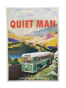 Enjoy The Quiet Man Country Poster