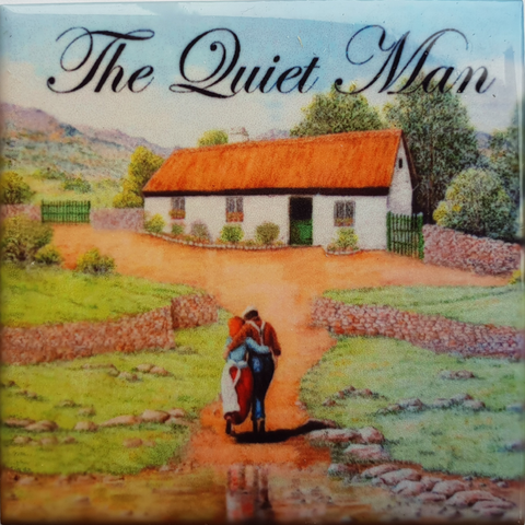 Magnet-The Quiet Man Tile Coloured At Cottage