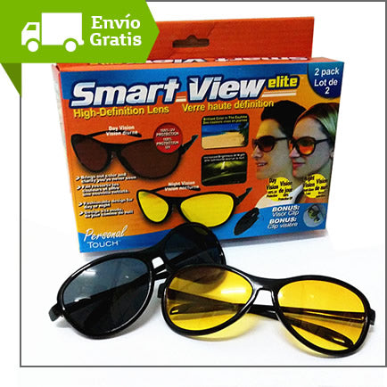 Gafas HD Vision Smart View Elite proteccion Uv Lente Amarillo