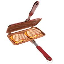 Parrilla Sanduchera Grill Red Copper Flipwich Doble Capa