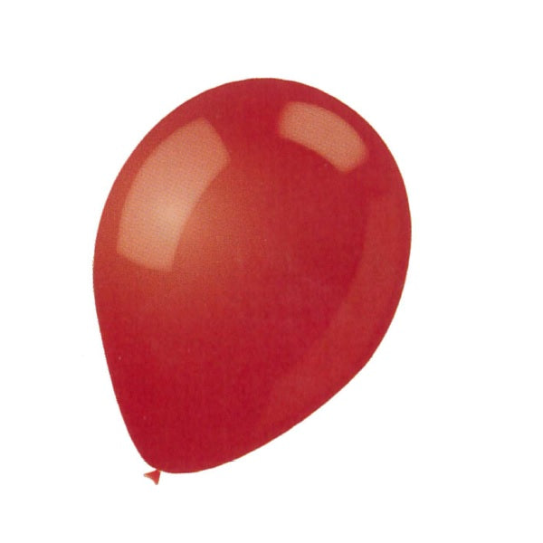 BALLOON LATEX COLOR 9in 25pcs Red