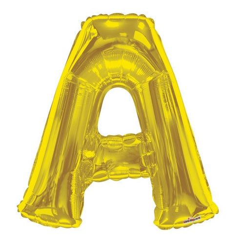 BALLOON FOIL LETTER 34in Gold A