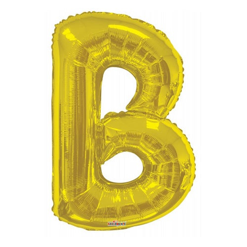 BALLOON FOIL LETTER 34in Gold B