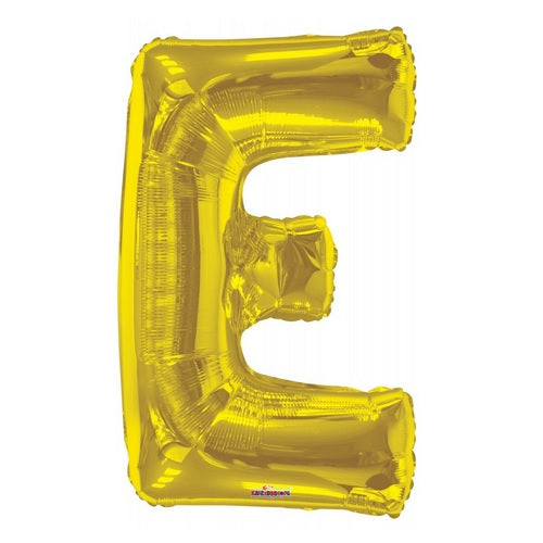 BALLOON FOIL LETTER 34in Gold E