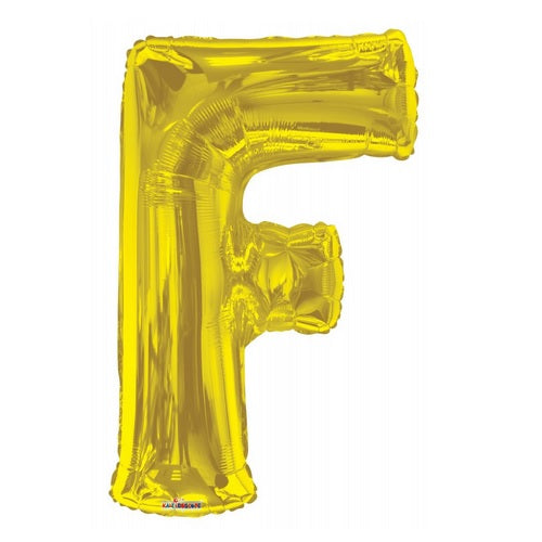 BALLOON FOIL LETTER 34in Gold F