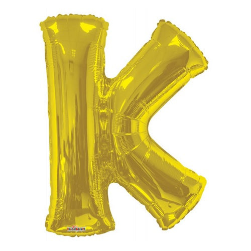 BALLOON FOIL LETTER 34in Gold K