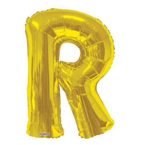 BALLOON FOIL LETTER 34in Gold R