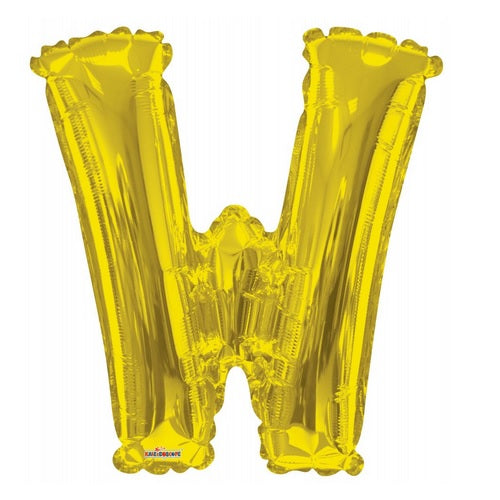 BALLOON FOIL LETTER 34in Gold W