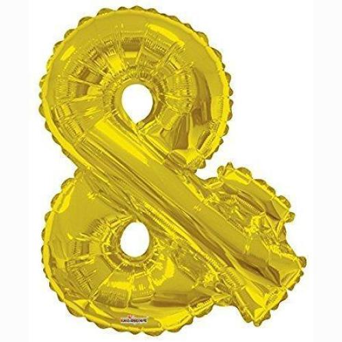BALLOON FOIL LETTER 34in Gold &