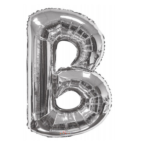 BALLOON FOIL LETTER 34in Silver B