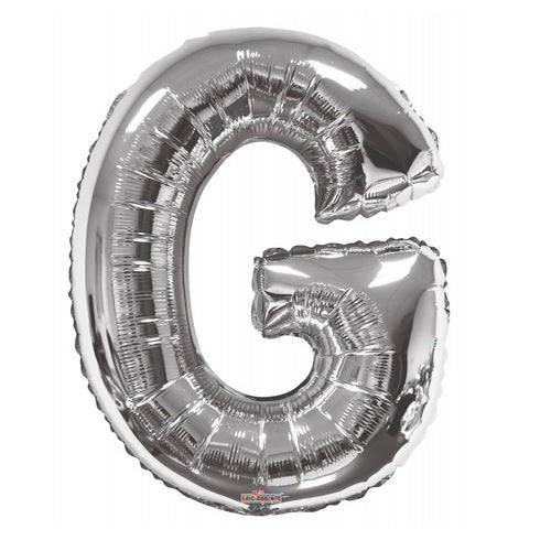 BALLOON FOIL LETTER 34in Silver G