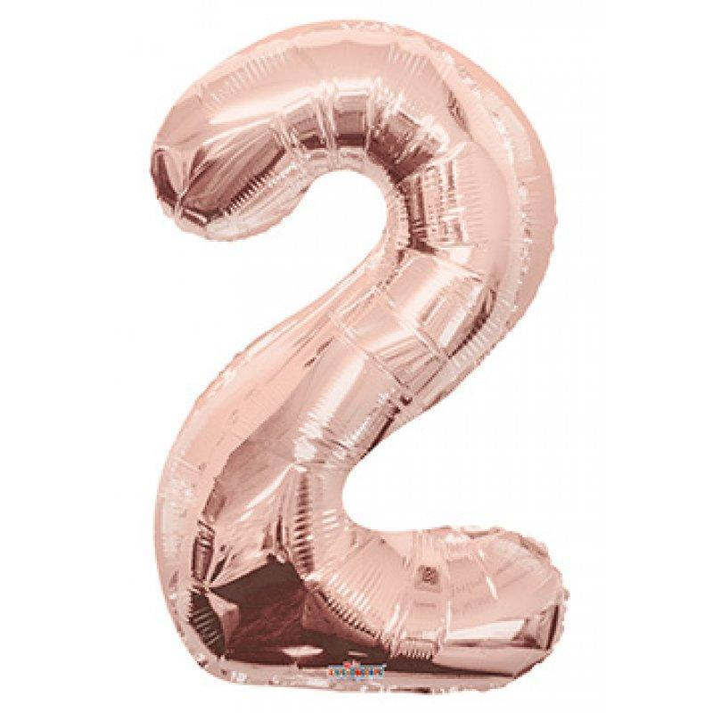 BALLOON FOIL NUMBER 34in Rose Gold 2