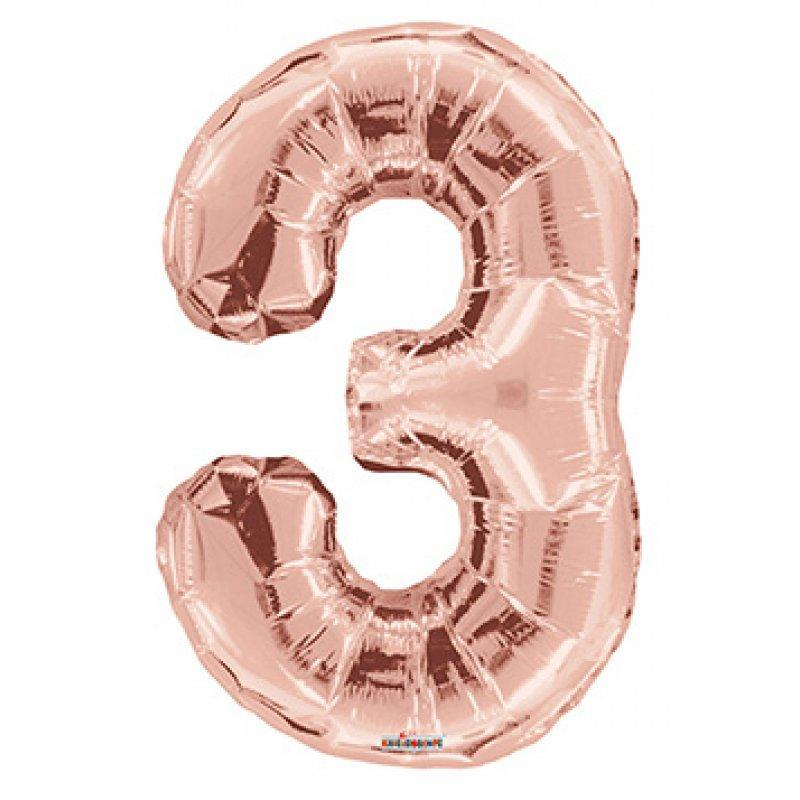 BALLOON FOIL NUMBER 34in Rose Gold 3