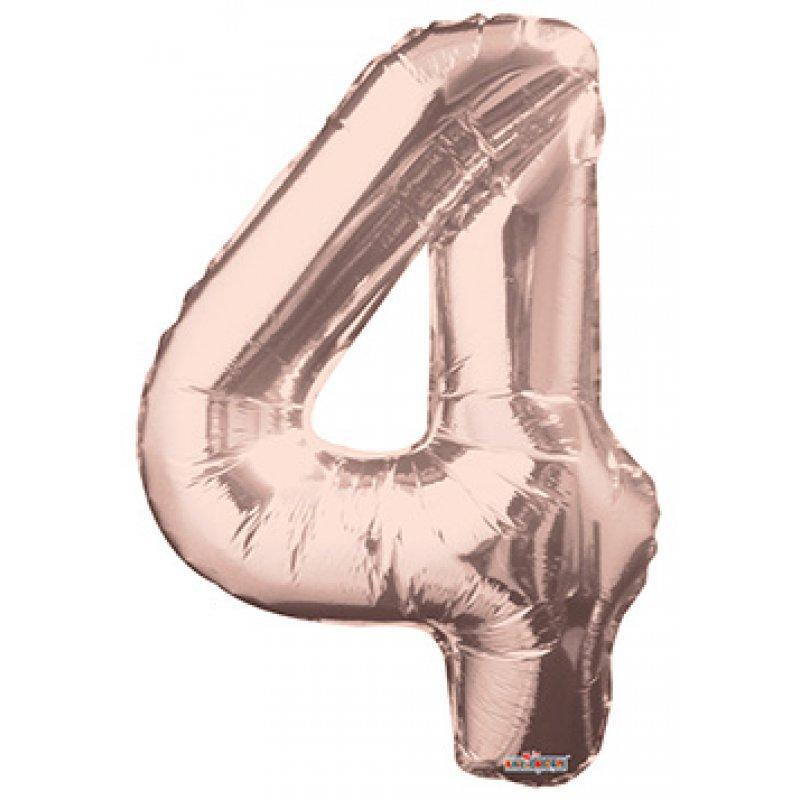 BALLOON FOIL NUMBER 34in Rose Gold 4