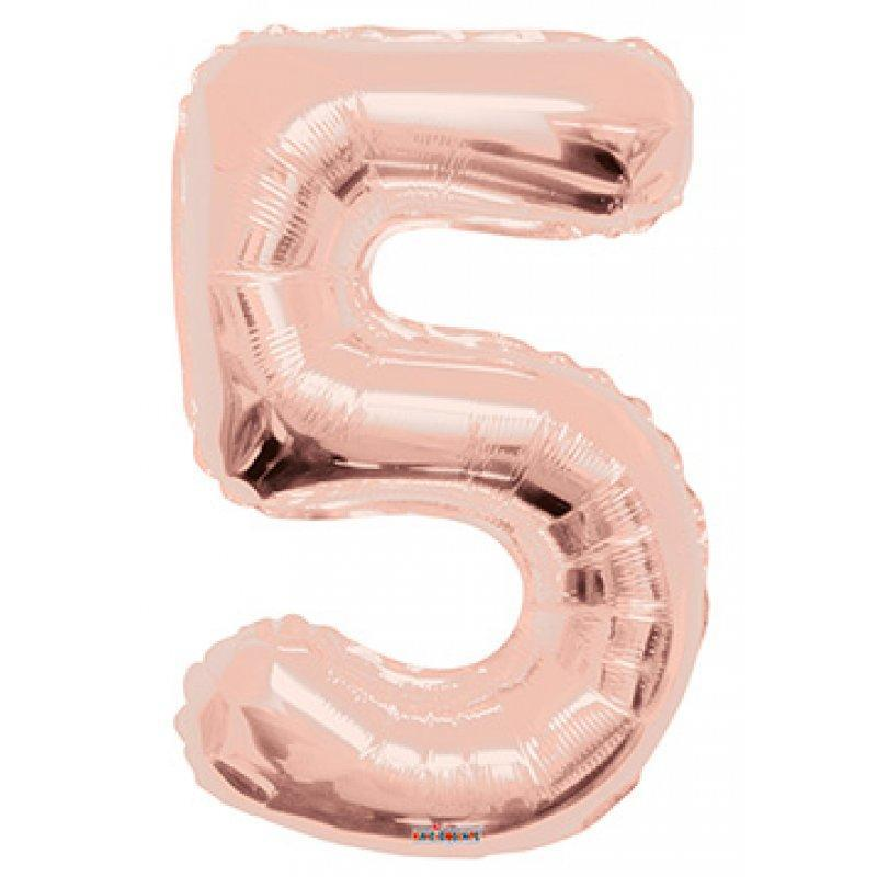 BALLOON FOIL NUMBER 34in Rose Gold 5