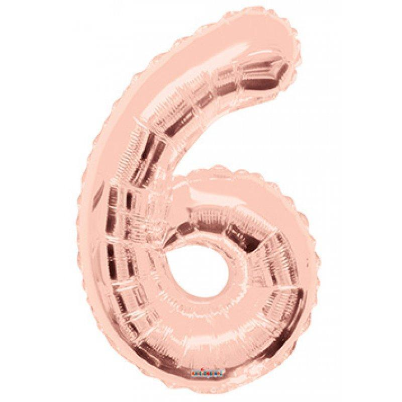 BALLOON FOIL NUMBER 34in Rose Gold 6