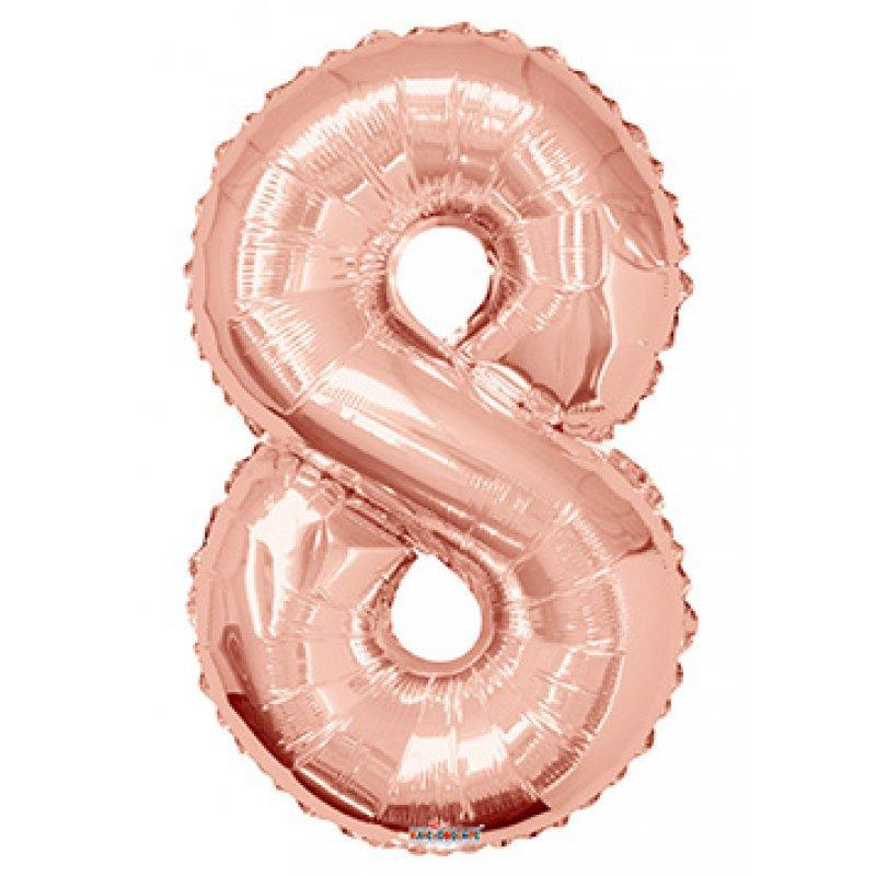 BALLOON FOIL NUMBER 34in Rose Gold 8