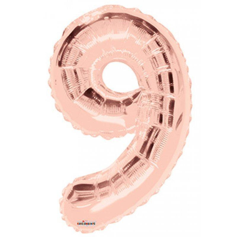 BALLOON FOIL NUMBER 34in Rose Gold 9
