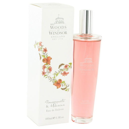 Pomegranate & Hibiscus Eau De Toilette Spray By Woods of Windsor