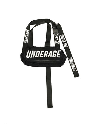 UNDERAGE Logo Bag in Black