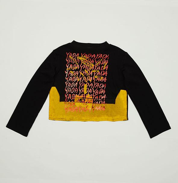 Yellow & Red Two Layered Print Top