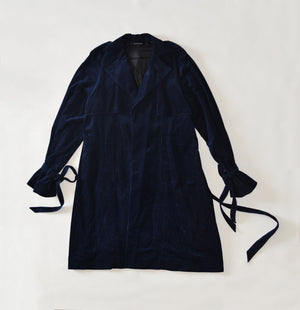 Oversized Navy Cordury Trench Coat