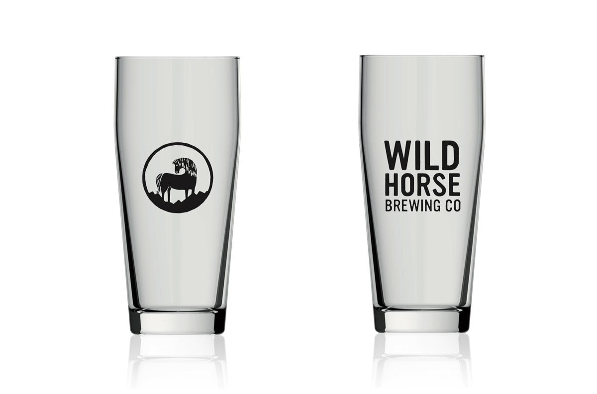 Wild Horse Branded 1/2 Pint Glass
