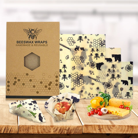 Beeswax Wraps Organic Reusable Packaging Food Beeswax Cloth