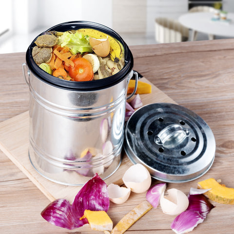 3L Kitchen Outdoor Indoor Odorless Compost Bin Pail