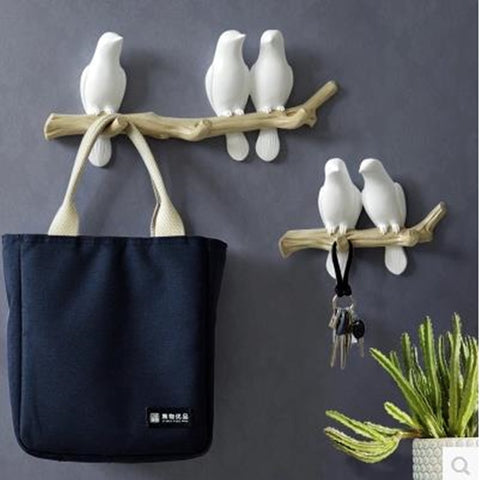Wall Decorations Home Accessories Room Hanger Resin Bird Hooks