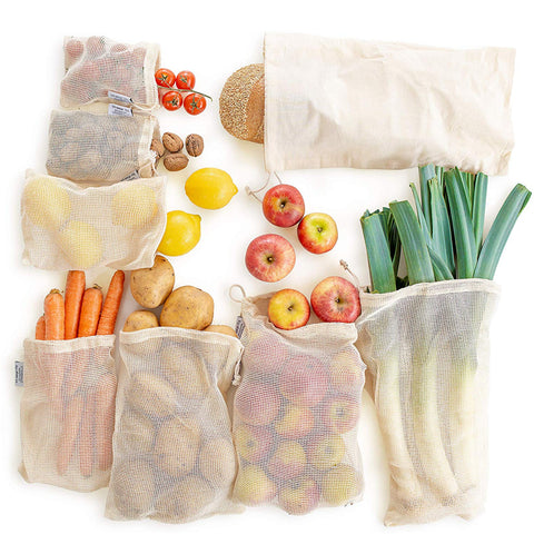 Reusable Washable Mesh Organic Fruits Vegetable Drawstring Bags